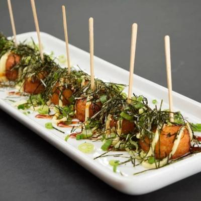 Food image of RAKKAN RAMEN, takoyaki (octopus balls)