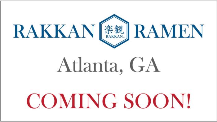 Featured image for the post of RAKKAN RAMEN Atlanta, GA is Coming Soon!