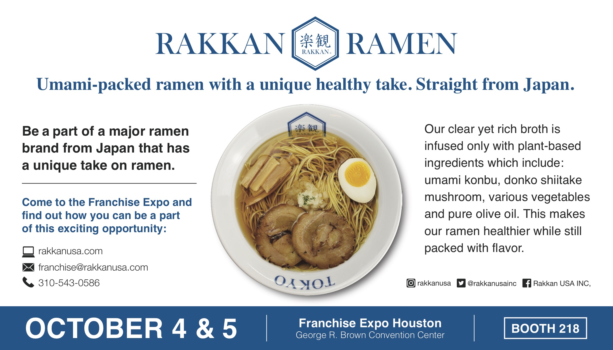 Image of advertisement for FC Times about RAKKAN Booth at Franchise Expo Houston