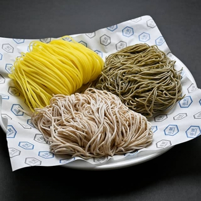 Food image of RAKKAN RAMEN, 3 kinds of noodles, RAKKAN Noodles, Gluten-free Noodles and Vegetable Noodles
