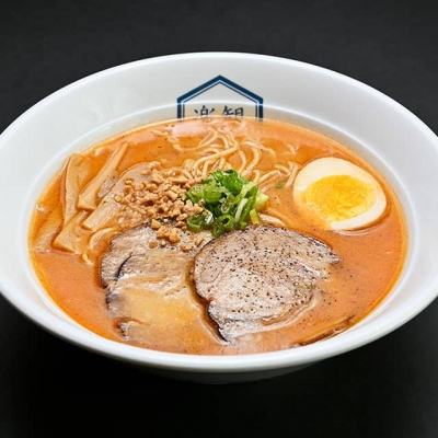 "RAKKAN ""Umami"" Ramen: Spicy Garnet, Side view"