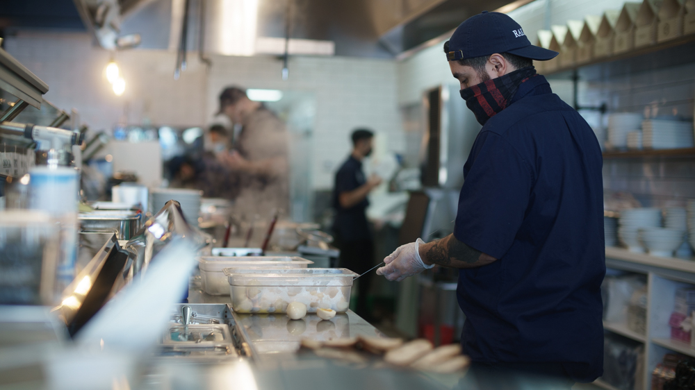 Long Beach Opening: A chef is getting ready.
