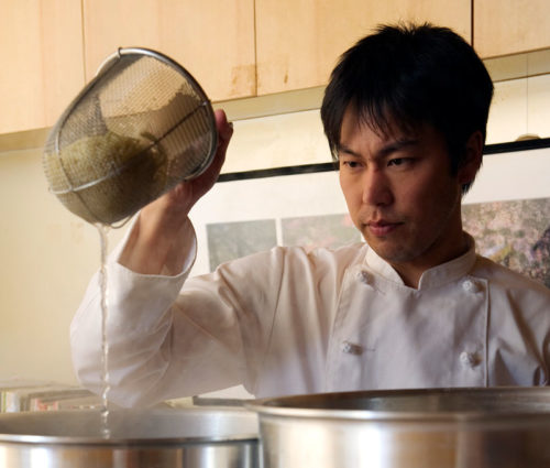 Photo of Mr. Ryohei Ito who is a founder and CEO of RAKKAN USA Inc. is doing